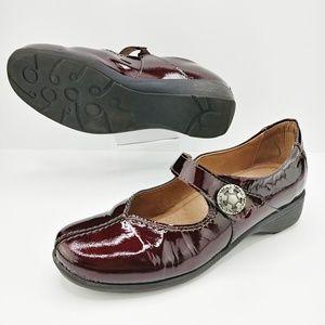 Sanita   Black Cherry Patent Leather Mary Janes